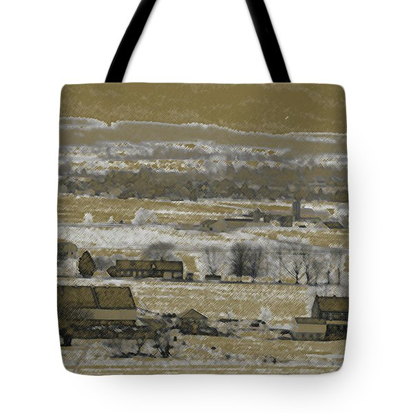 Tote Bag featuring the photograph Snow In The Valley by Vilas Malankar