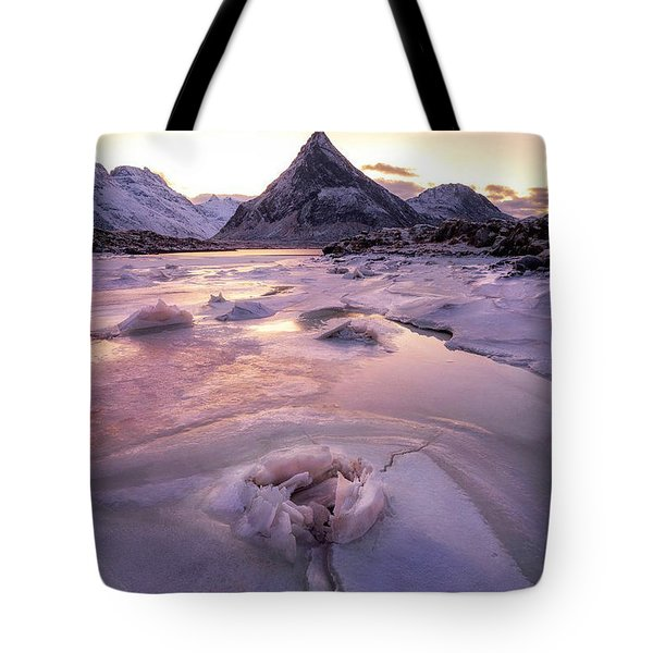 Snow Incredible Mountain Views Tote Bag
