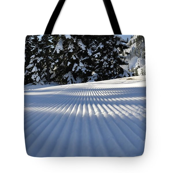 Snow Is Groovy Man Tote Bag