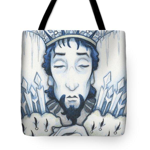 Snow King Slumbers Tote Bag by Amy S Turner