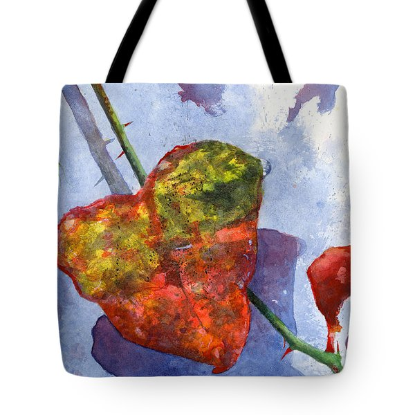 Snow Leaf Tote Bag by Andrew King
