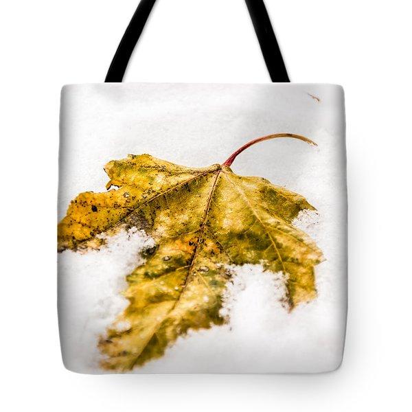 Snow Leaf Tote Bag