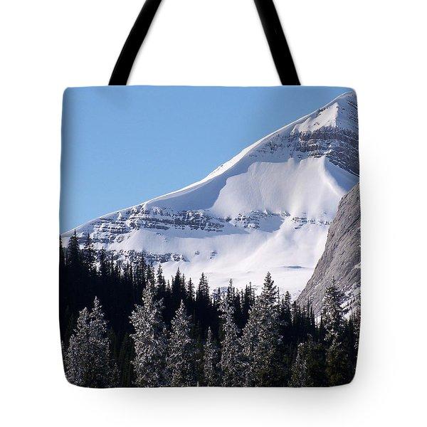 Snow Ledge Tote Bag by Greg Hammond