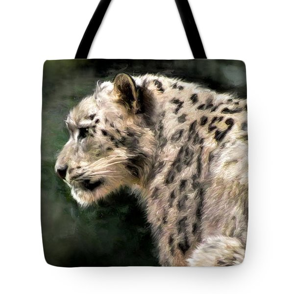Snow Leopard Tote Bag by Kaylee Mason