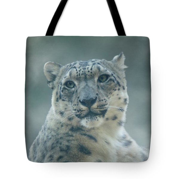 Tote Bag featuring the photograph Snow Leopard Portrait by Sandy Keeton