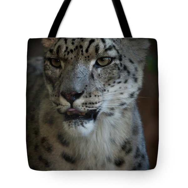 Tote Bag featuring the photograph Snow Leopard by Roger Mullenhour