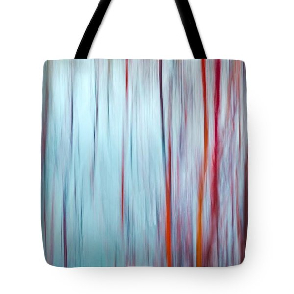 Snow Melt In The Wetlands Red Tote Bag