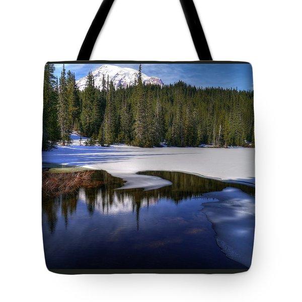 Snow-melt Revelations Tote Bag