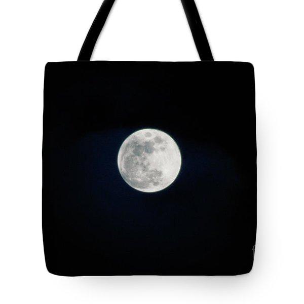 Snow Moon 4 Tote Bag by Janie Johnson