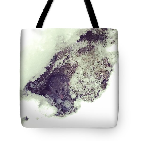 Snow Mouse Tote Bag