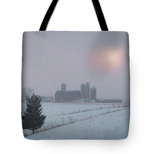 Snow Muted Sunset Tote Bag