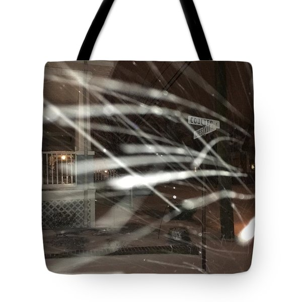 Snow On Coulter Tote Bag