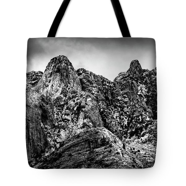 Tote Bag featuring the photograph Snow On Peaks 46 by Mark Myhaver
