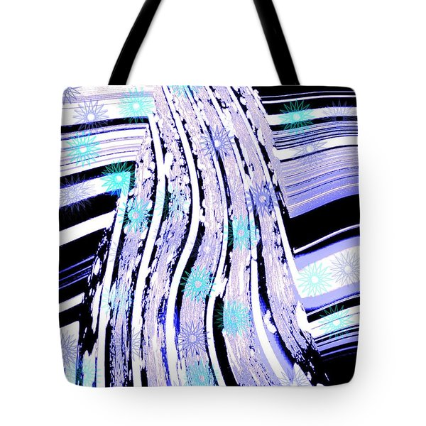 Tote Bag featuring the digital art Snow On Ski Mountain by Marsha Heiken