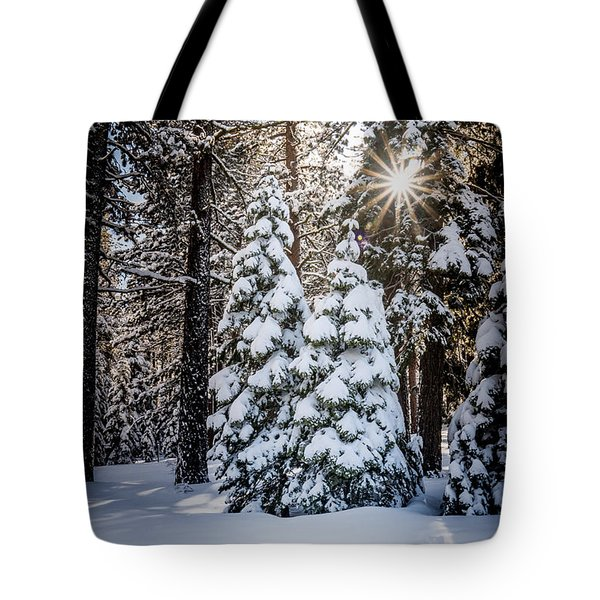 Snow On Spooner Summit Tote Bag