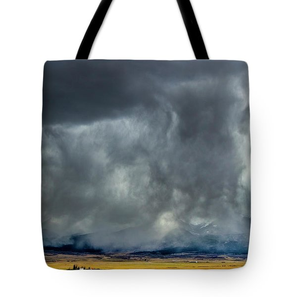 Snow On The Rockies Tote Bag