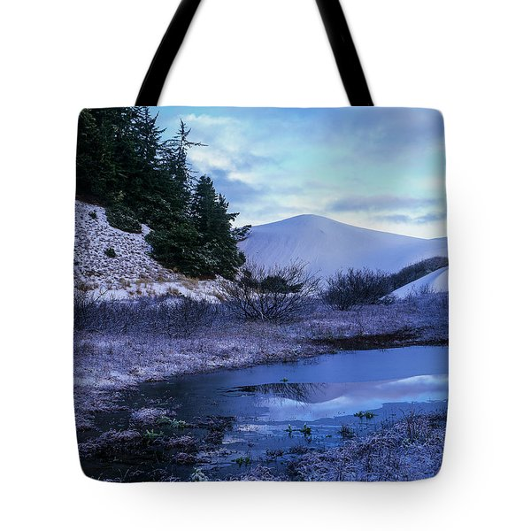 Snow On The Sand Tote Bag