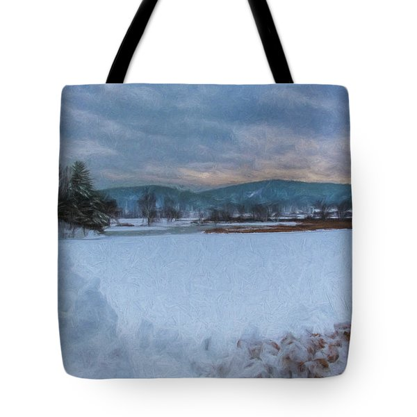 Snow On The West River Tote Bag