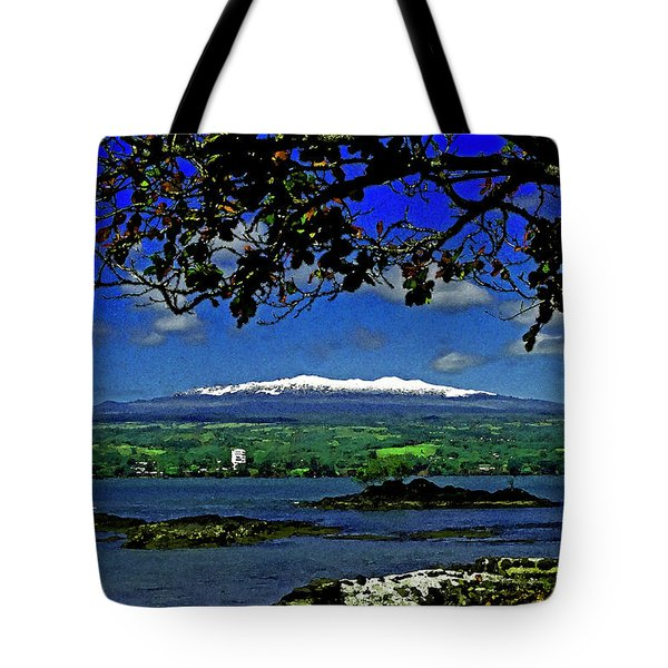 Tote Bag featuring the photograph Snow Over Hawaii by Randy Sylvia