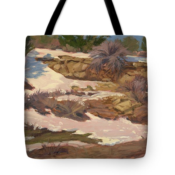 Snow Patch Tote Bag