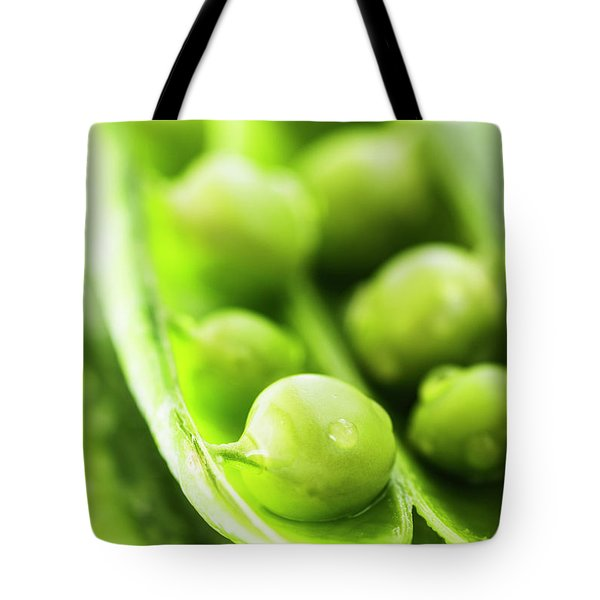 Snow Peas Or Green Peas Seeds Tote Bag by Vishwanath Bhat