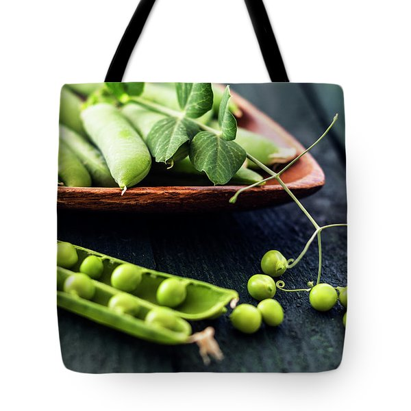 Snow Peas Or Green Peas Still Life Tote Bag by Vishwanath Bhat