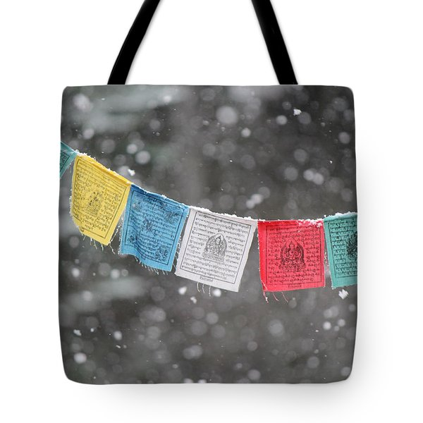 Snow Prayers Tote Bag