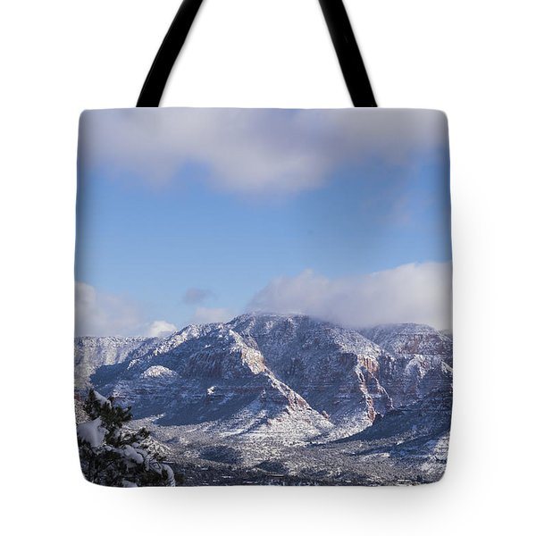 Snow Rim Tote Bag