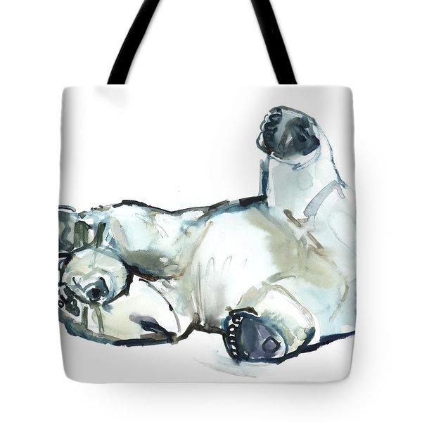 Snow Rub Tote Bag