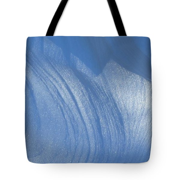 Snow Sculpted By The Wind Tote Bag
