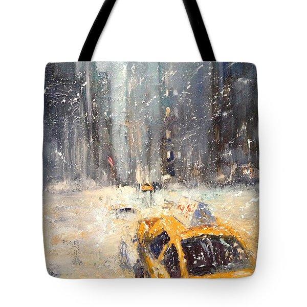 Snow Snow Snow... Tote Bag by NatikArt Creations