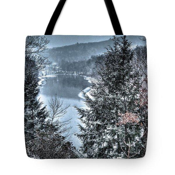 Snow Squall Tote Bag