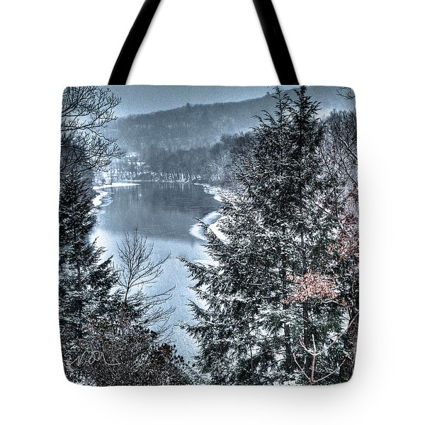 Snow Squall Tote Bag by Tom Cameron