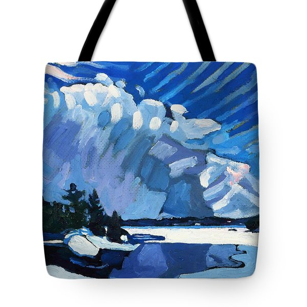 Snow Squalls Tote Bag by Phil Chadwick