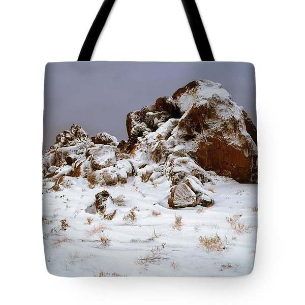 Snow Stones Tote Bag