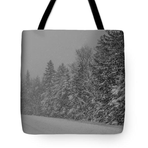 Snow Storm Tote Bag
