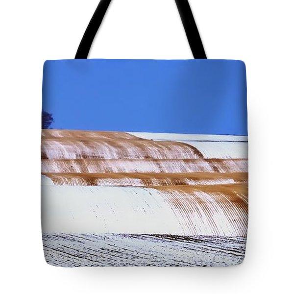 Snow Stubble Tree Line 13955 Tote Bag