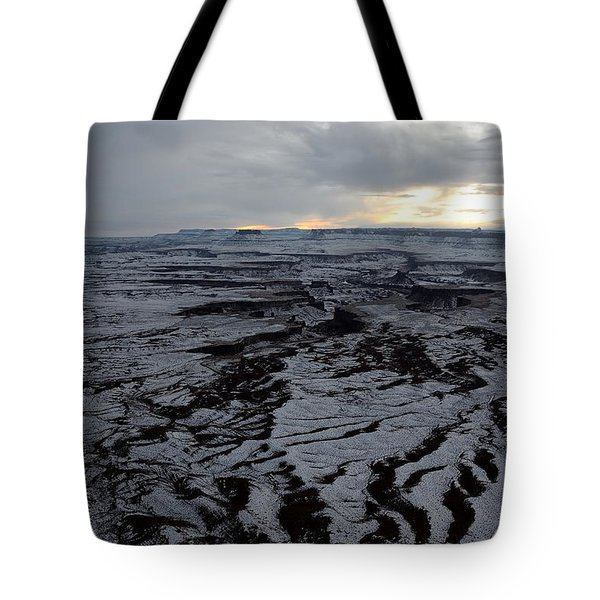Snow Topped Canyons Tote Bag