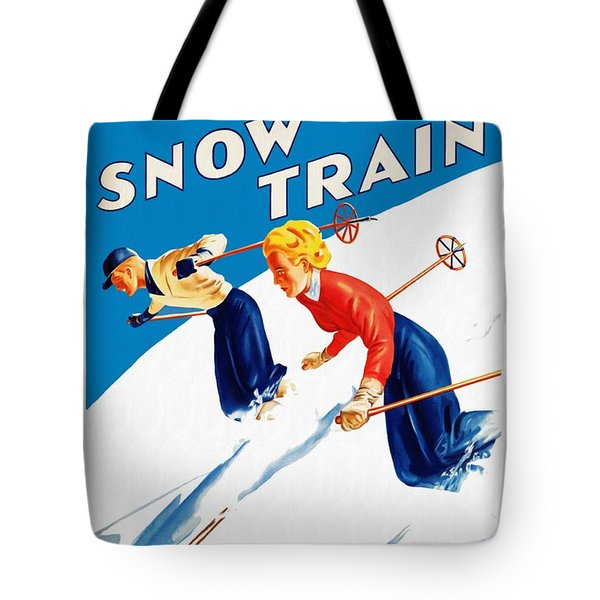 Snow Train - Restored Tote Bag