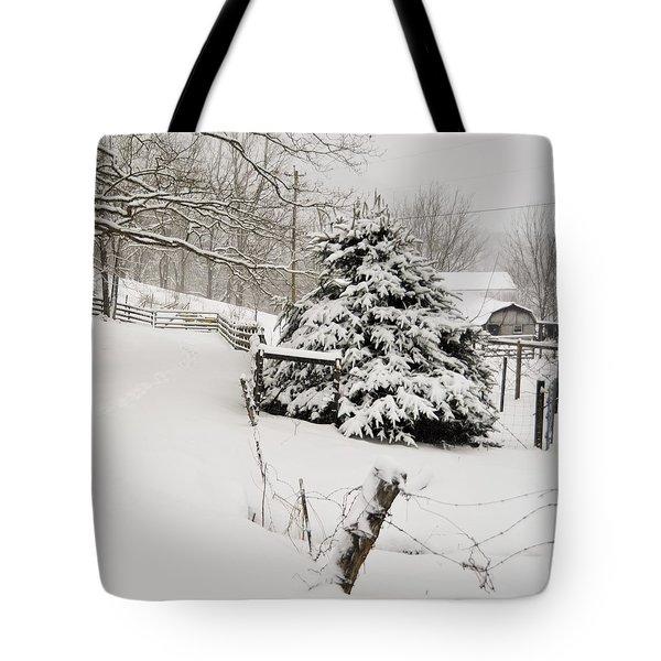 Snow Tree Tote Bag