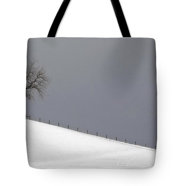 Tote Bag featuring the photograph Snow Tree by Ken Barrett