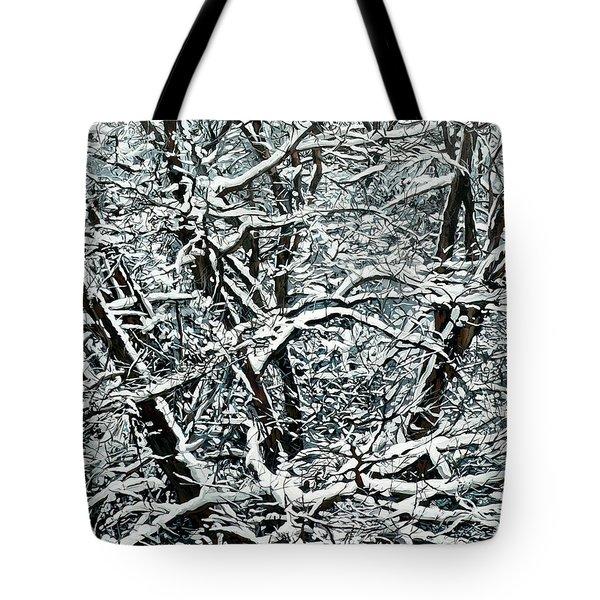 Snow Tree Tote Bag by Nadi Spencer