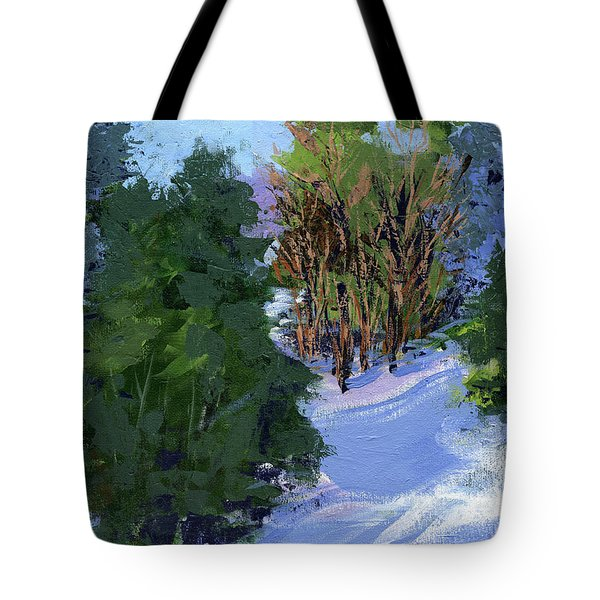 Snow Trees Tote Bag