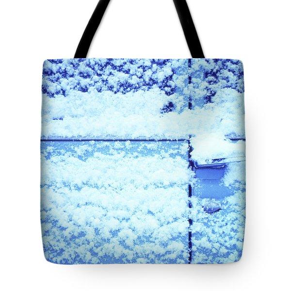 Snow Van 51 Chevy Panel Tote Bag