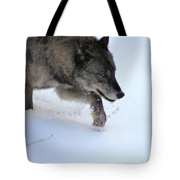 Snow Walker Tote Bag