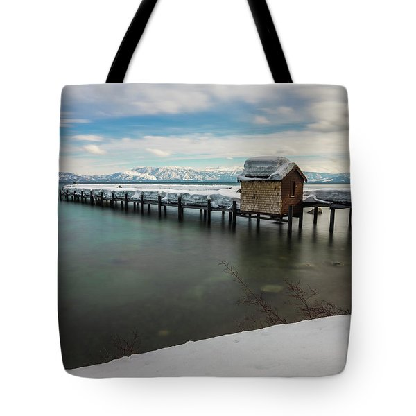 Snow White Pier Tote Bag