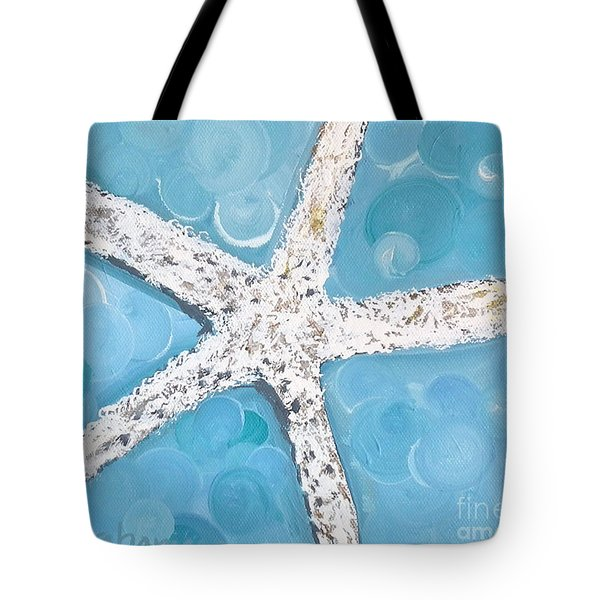 Snow White Starfish Tote Bag