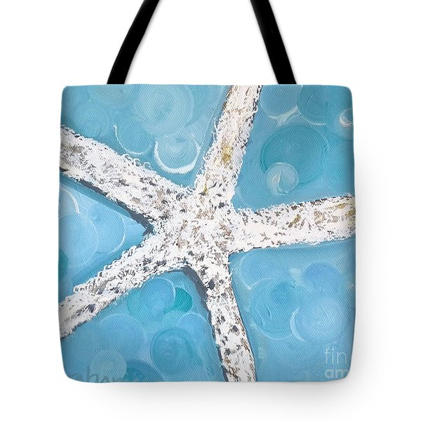Snow White Starfish Tote Bag