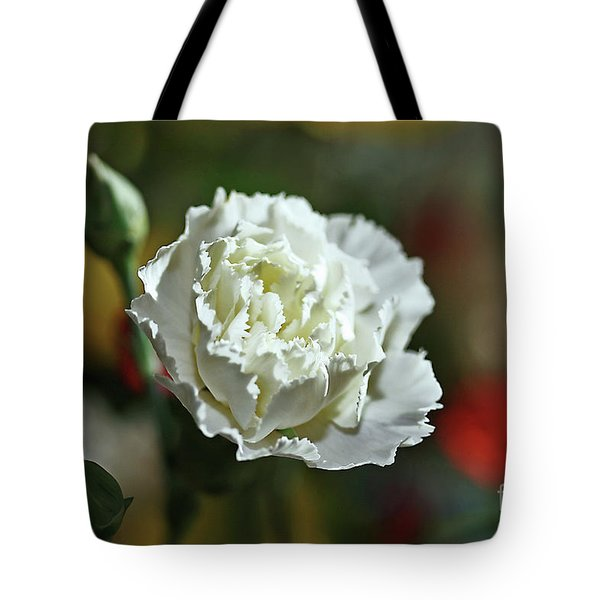 Tote Bag featuring the photograph Snow White by Stephen Mitchell