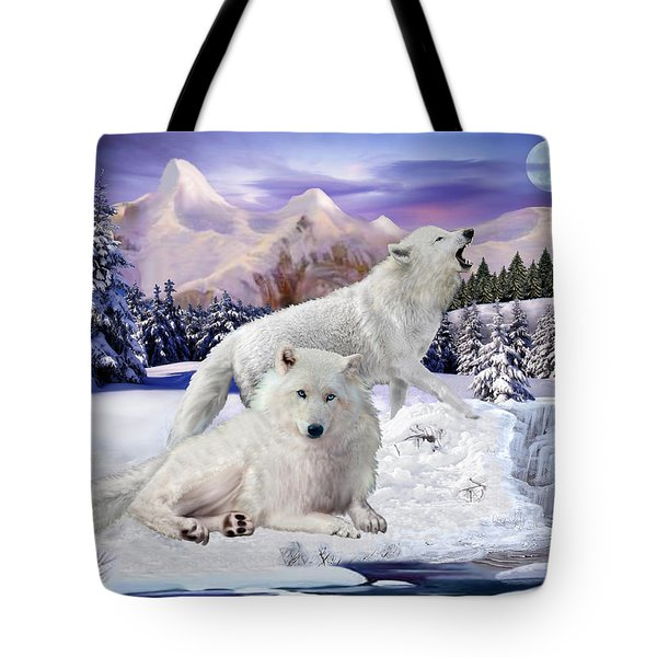 Snow Wolves Of The Wild Tote Bag